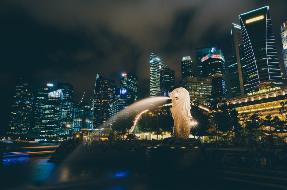 Merlion by the bay in Singapore